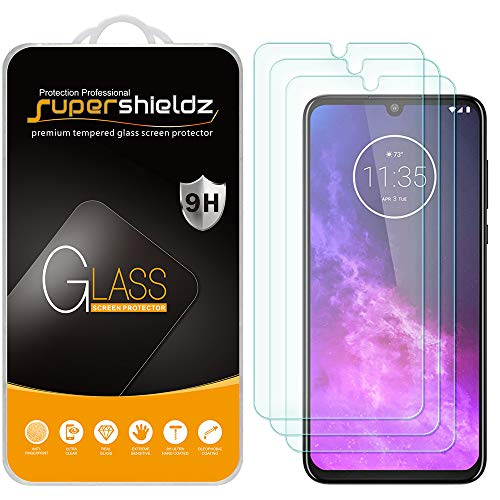 (3 Pack) Supershieldz for Motorola One Zoom and One Pro Tempered Glass Screen Protector, Anti Scratch, Bubble Free