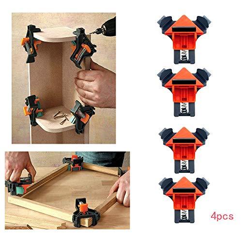 LZL 4PCS Multifunktionswinkelklemme 90-Grad-Positionierungsvorrichtung Rechtwinklige Ecke Einstellbares Werkzeug für das Schweißen von Eckclips zur Holzbearbeitung