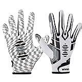 Hivool Guanti da Football Americano Guanti Riceventi, Ultra-Stick Sports Receiver Gloves, Guanti da Calcio ad Alte Prestazioni per Gioventù e Adulti