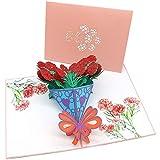 Biglietti d'auguri 3D pop-up, biglietti regalo creativi per compleanno, festa della mamma,...