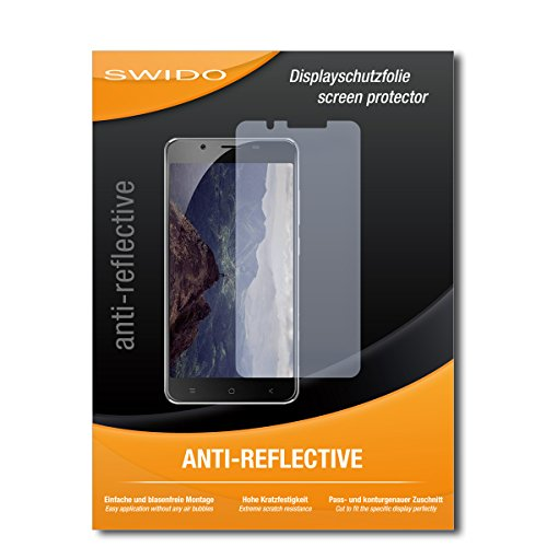 SWIDO Schutzfolie für Blackview P2 [2 Stück] Anti-Reflex MATT Entspiegelnd, Hoher Festigkeitgrad, Schutz vor Kratzer/Bildschirmschutz, Bildschirmschutzfolie, Panzerglas-Folie
