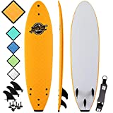 Soft Top Surfboard - Best Foam Surf Board for Beginners, Kids, and Adults - Soft...