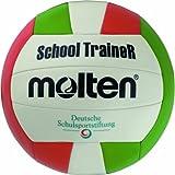 Molten School Master Volleyball Größe 6 Ball, Weiss/ROT/GRÜN, 5