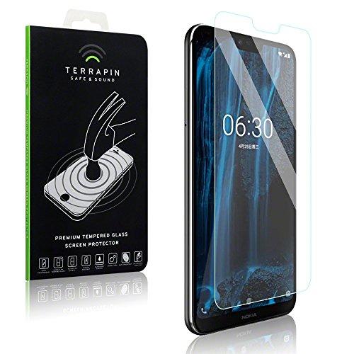 TERRAPIN, Kompatibel mit Nokia 6.1 Plus Tempered Glas, Panzerglas Glas Bildschirmschutzfolie