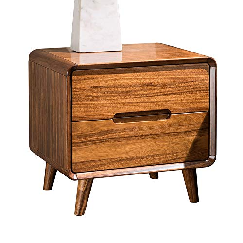 Lowest Prices! EAHKGmh Bedside Table ,with 2 Drawers Modern Minimalist Solid Wood Nightstand, Bedr...