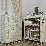 LLLKKK Zapatero de madera maciza para dormitorio, sencillo y económico, multifuncional, resistente al polvo, ahorro de espacio, capas de montaje, botella.