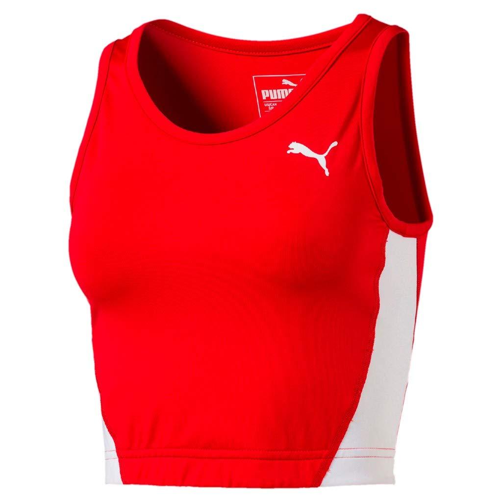 Puma Damen Cross The Line Croptop W Tank Top, Red, XL