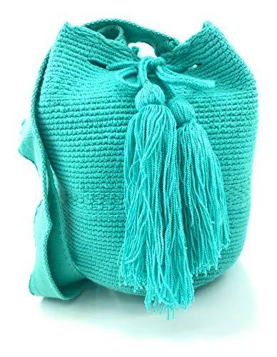 COLOMBIAN STYLE Kolumbianische Tasche (Wayuu Rucksack) MITTLERE GRÖSSE, Wayuu Rucksack für Frauen und Männer.