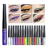 Rechoo Matte Glitter Liquid Eyeliner Long Lasting Waterproof Sparkling Eyeliner Eye Shadow Pen (16 pcs)