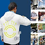 Women Men Cooling Jacket Fan Summer Outdoor Air-Conditioned Clothes Blouse