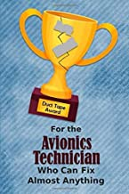 For the Avionics Technician Who Can Fix Almost Anything   Duct Tape Award: Employee Appreciation Journal and Gift Idea