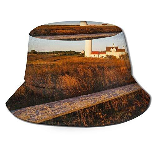 XCNGG Highland Light Leuchtturm Eimer Hüte Sommer Herbst Outdoor Fisherm eine Sonnenhut Kappe