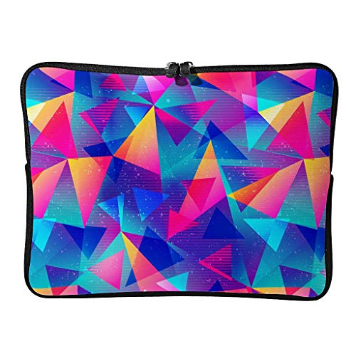 Portátil Ordenador y Tablet Bolso de Hombro Arco Iris Triángulo Ligero Portátil Bolsa para la Escuela Blanco 10 Zoll