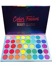 Beauty Glazed Color Fusion 39 Shades paleta metalicznych i połyskujących cieni do powiek, wysoka pigmentacja, łatwe mieszanie, odporne na pot i wodoodporne cienie do powiek