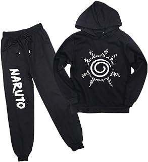 KIACIYA Sudadera Naruto Niño, Naruto Conjunto de Chándal con Capucha Naruto Sudaderas y Pantalones de Deporte Casual Suéte...