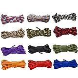 12pcs Paracord Multicolore Multifonction Paracordes pour Parachute Bracelet Cordes...