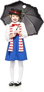 Girl's Child English Nanny Poppins Costume