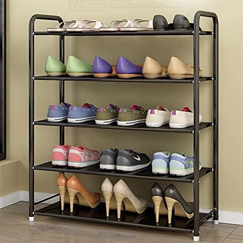 Estante de zapatos de 5 capas, caja de almacenamiento de zapatos apilable, 15-20 pares de zapatos, bastidor de almacenamiento de múltiples escenas, adecuado para vestíbulo de entrada de vestíbulo.