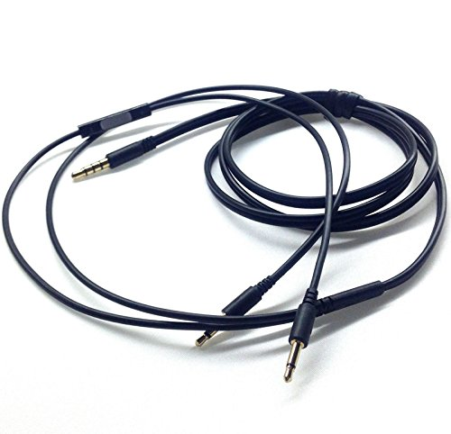 Tutoy 1.2M Vervangende Audio Kabel Afstandsbediening Mic Voor Iphone B&W Bowers & Wilkins P3 Koptelefoon