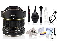 Opteka 6.5MM F / 3.5HD Aspherical魚眼レンズレンズwith careキットfor Canon EOS 70d、60d、60da、50d、40d、7d、6d、5d、5ds、1ds、Rebel t6s t6i, t5i、t5、t4i、t3i、t2i、t3sl1デジタル一眼レフカメラ