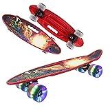 "Geelife 22"" Complete Mini Cruiser Skateboard for Beginners Youths Teens Girls Boys"