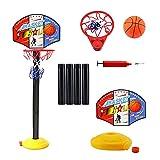Canasta de baloncesto ajustable para niños, canasta de baloncesto con soporte, altura ajustable, soporte y aro