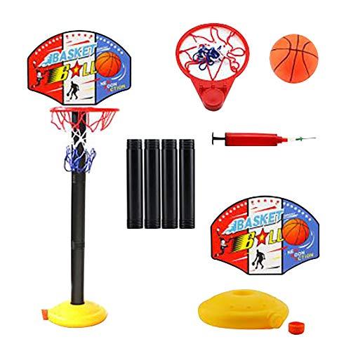 Kinder Einstellbare Basketballständer Basketballkörbe Basketballkorb mit Ständer Höhenverstellbar Basketball Backboard Ständer & Hoop Set Korb Spiel