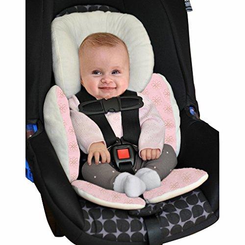 Vine Baby Sitzauflage Baby im Auto Kinderwagen Sitzauflagen für Kinderwagen,Universal Kinderwagen Sitzkissen Baby Sitzauflage Baumwolle Autokindersitz(rosa)