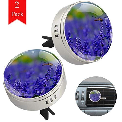 LORVIES libelle op lavendel auto luchtverfrisser aromatherapie etherische olie diffuser 2 stuks