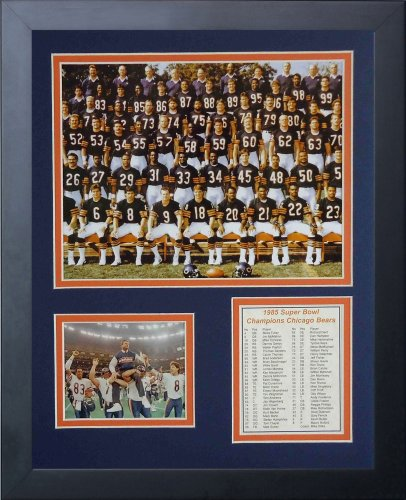 Chicago Bears NFL Framed 8x10 Photograph Team Logo and Football Helmet Collage