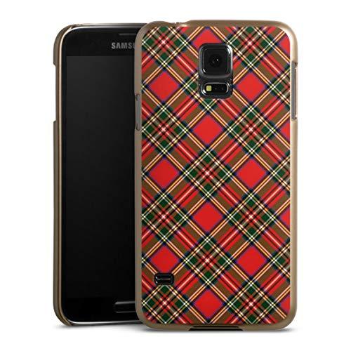 DeinDesign Handyhülle kompatibel mit Samsung Galaxy S5 Neo Cover Gold Schutzhülle Schottland Schotte Muster