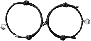 YOUNGE Attract Couples Bracelets Magnetic Buckle Adjustable Braid Rope Bracelet