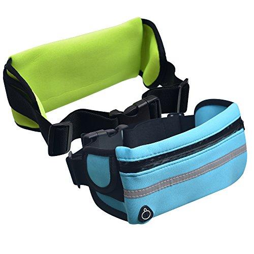 KIRELNI Flipbelt-Combo 2 Travel Money Belt, Running Belt, Flipbelt Storage, Best For Exercise, Workout Belt Bonus Waterproof The High Visibility Reflective By