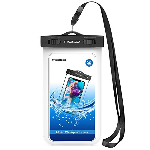 MoKo Funda Impermeable, Waterproof Brazo y Cuello Compatible...