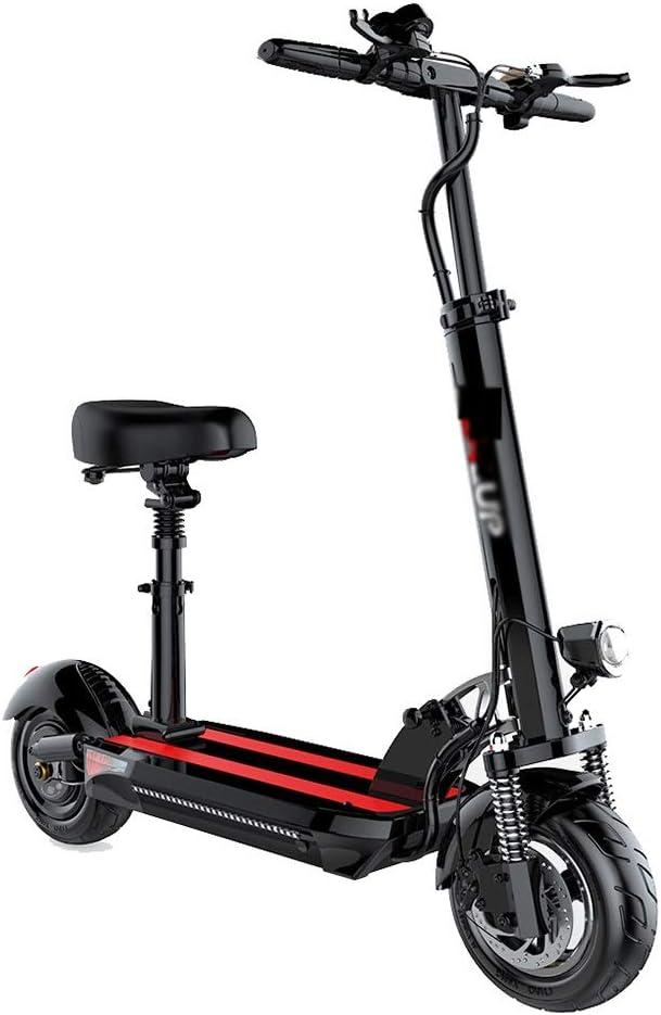 WEIJINGRIHUA Patinete de Ruedas para niños Scooter eléctrico por Edad, Estructura de Ciudad del Viajero con el Peso Ligero Plegable de Crucero Rango de 30~60 kilometros (Color : Black)