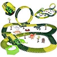 FUN LITTLE TOYS Dinosaur Toys 232-PCs Flexible Track Playset