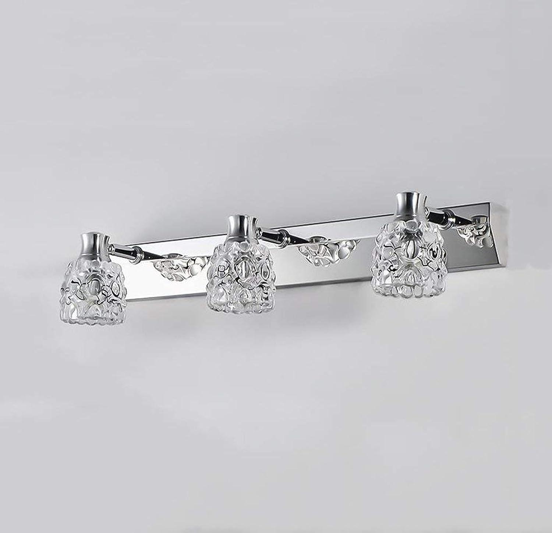 Badezimmerspiegelleuchten Kristallspiegel Frontleuchte Bad LED Badezimmerspiegelleuchte Wandleuchte Edelstahl Kosmetik Kosmetikspiegel Schrankleuchte