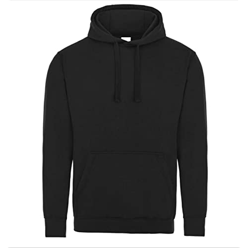 4e8d1db4c Famona Ltd Plain Black Pullover Unisex Hoodie Hooded Top Hoodie for Mens  and Womens Hooded Sweatshirt