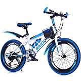Mzl Bicicleta de montaña para niños Junior Niños Velocidad Variable Bicicleta plegable Aleación Bicicleta Estudiante 20,22, 7 Años +