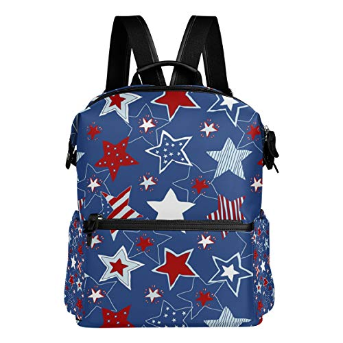 TIZORAX Patriotique Stars and Stripes Sac à Dos d'école College Sacs Sac à Dos Bookbags pour Teen garçons Filles