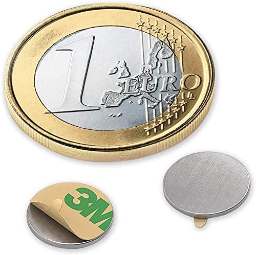 Magnastico Neodym Magnete für Magnettafel 6 x 1 mm 20 Stück Magneten selbstklebend Rund Supermagnet stark Scheibenmagnete für Pinnwand & Kühlschrank Magnet N35 Flach