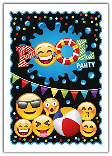 12 Einladungskarten zum Kindergeburtstag Schwimmbad Jungen Jungs Mädchen Einladungen zum Geburtstag Pool-Party