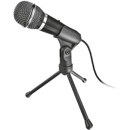 Trust 21671 Starzz Microfono, Nero