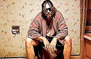 Moncome The Big Dudes Lebowski Bathroom Movie Poster-Funny Bathroom Art Print-Painting