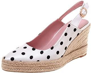 Zanpa Women Fashion Weaving Wedge High Heel Pumps