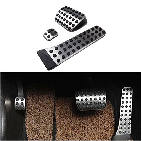 etopmia BEZ No Drill Fuel Brake Foot Pedals For Mercedes Benz C/E/S/GLK/SLK/CLS/Sl Class Silver (1 Pack)