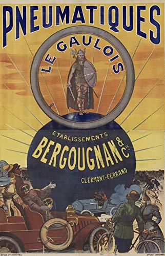 Clermont Ferrand - Póster de reproducción (50 x 70 cm, papel de lujo, 300 g), venta del archivo digital HD posible, consulta (tienda: cartel vintage.FR)