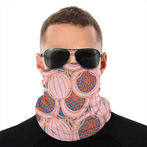 Xunulyn pasamontañas de Microfibra Suave paño Grueso y Suave para la Cabeza Bufanda Cubierta Escudo Abstracto Dibujado Higo Fruta Rosa Caliente sin Costura Cuello Bufanda