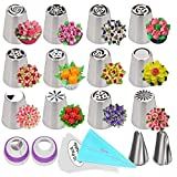 Russian Piping Tips, 27 Pcs Flower Frosting...