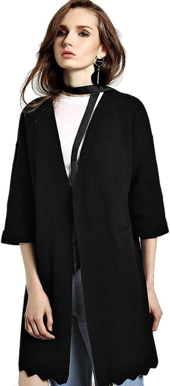 Insun Women's Winter V Neck Long Coat Knit Cardigan Sweater with Pockets